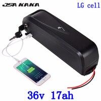 36V 20AH 전기 자전거 배터리 36V 500W 1000W Ebike Battery36V 10AH 13AH 14AH 17AH 20AH 리튬 배터리 사용 LG 셀 + 2A 충전기