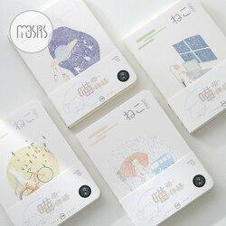 Nouveau carnet de croquis mignon école cahier papier 80 feuilles croquis livre pour dessin main livre lumineux papeterie produits fournitures cadeau
