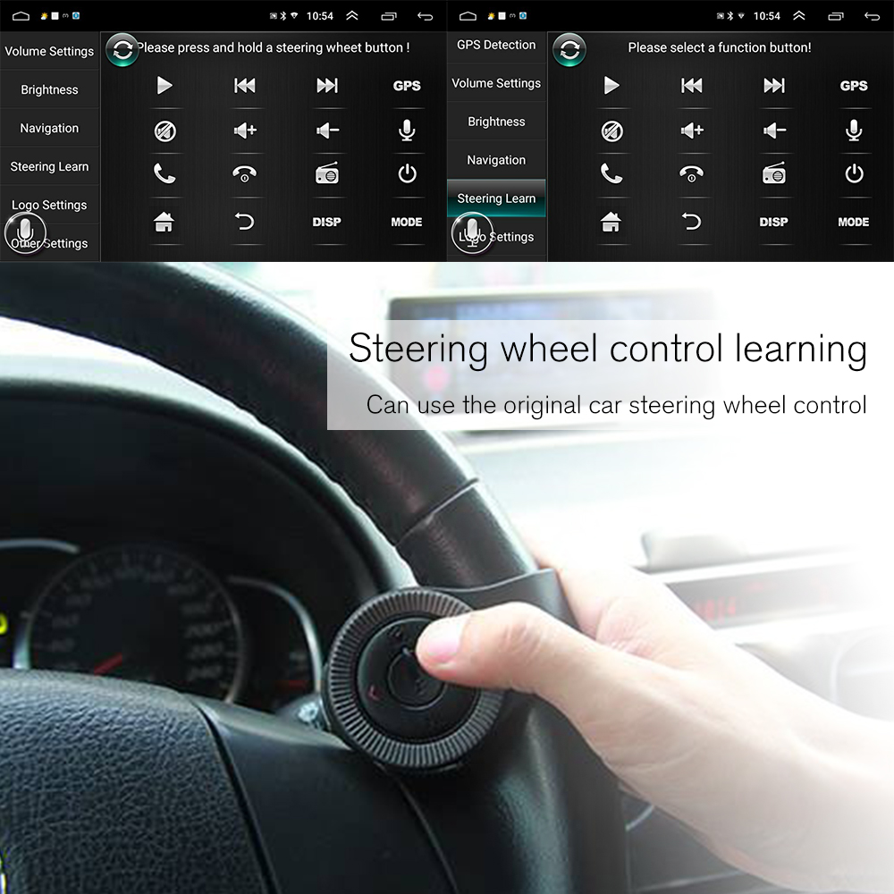 "Podofo 2 din Car Radio 2.5D GPS Android Multimedia Player Universal 7"" audio Navigation For Volkswagen Nissan Hyundai Kia Toyota 3"