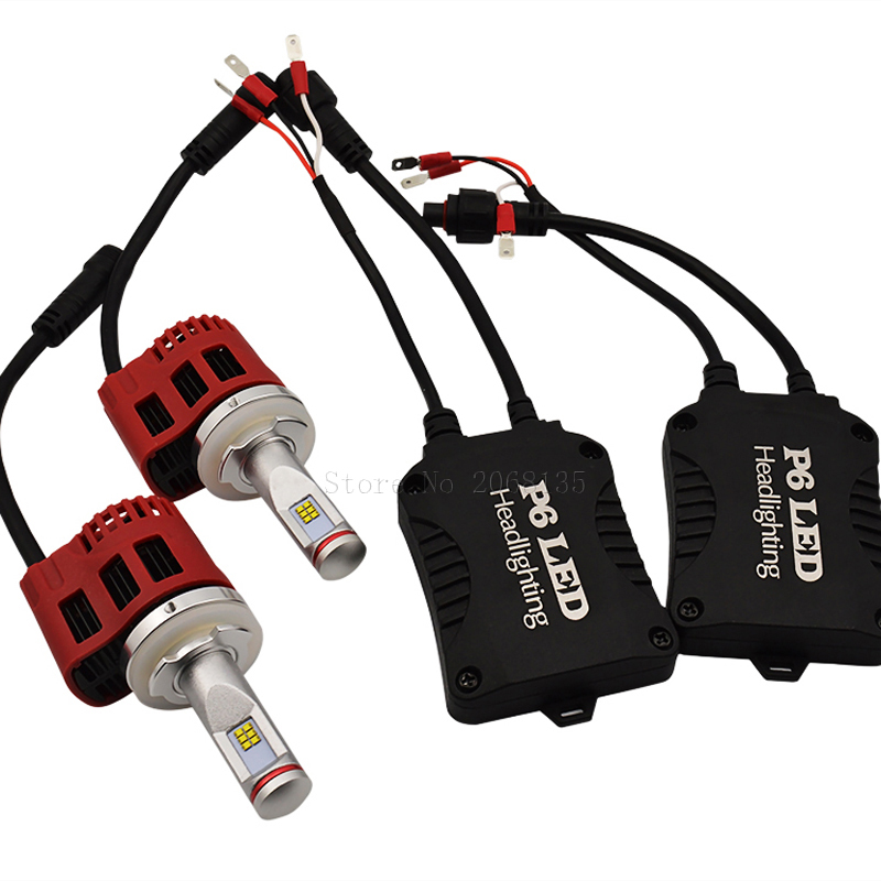 Hi Lo 3000 К 4000 К, 5000 К, 6000 К P6 H15 светодиодные фары бесплатная CANbus 4500LM Водонепроницаемый 11-30 В лампы для зэс чип заменить hid ксеноновые