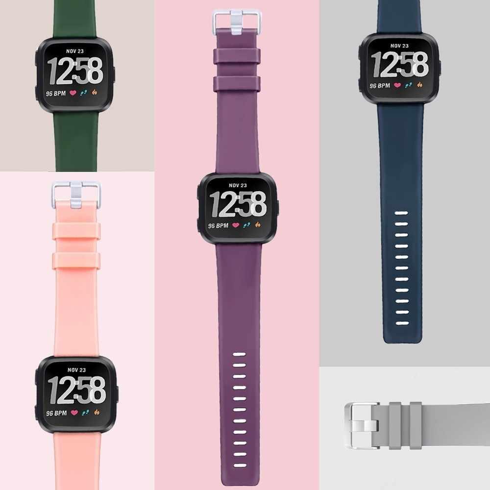 Dszake استبدال حزام ل Fitbit فيرسا/فيرسا لايت باند لينة سيليكون مقاوم للماء أسورة يد حزام ل Fitbit فيرسا الفرقة