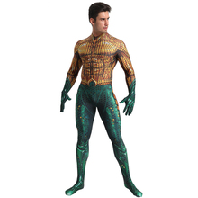 Deluxe Aquaman Costume Cosplay For Men Superhero Adult Halloween