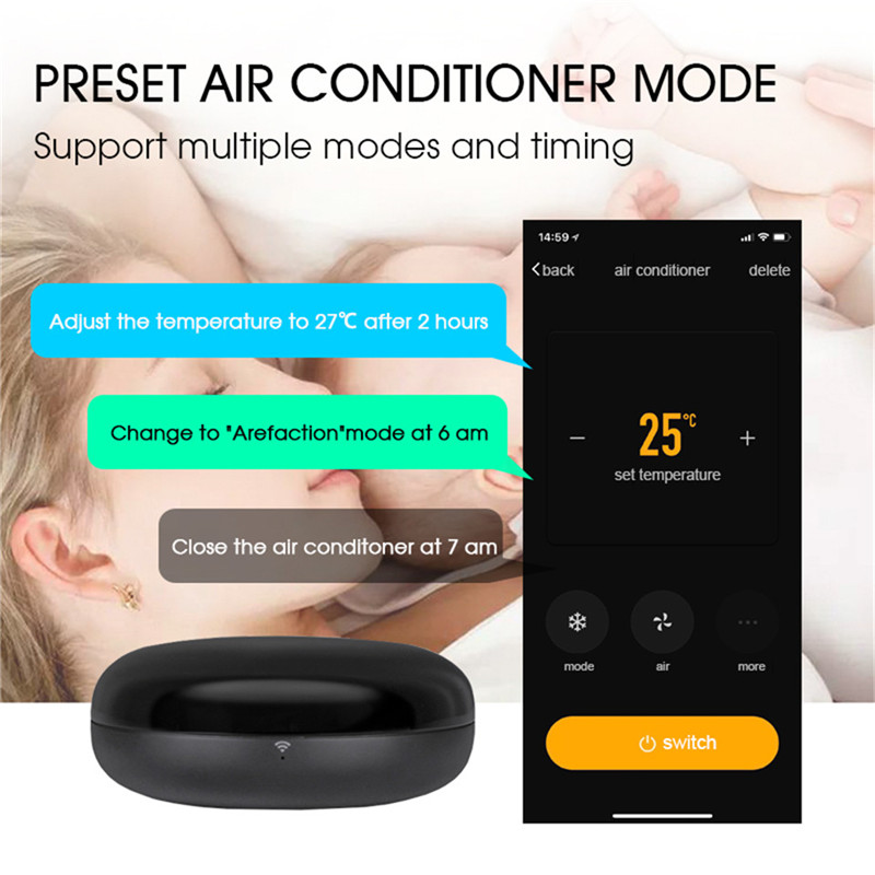 US $19 99 40% OFF|Smart IR Remote Control Infrared Universal Smart Life APP  Control One for All Control TV DVD AUD Works with Alexa Google Home-in