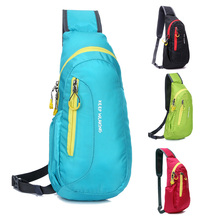 4 Colors Unisex Nylon Waterproof Chest Bags Outdoor Sport Hiking Running Diagonal Package Hot 2017 DropShip