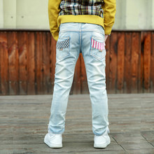 IENENS Fashion Boys Classic Slim Straight Jeans Young Children Denim Long Pants Kids Boy Casual Trousers Spring Baby Clothes(China)
