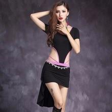 2017 Sexy Belly Dance Dress For Women Free Leggings Modal Binding Belly Dancing Costume Professional Split Short Skirt Clothes