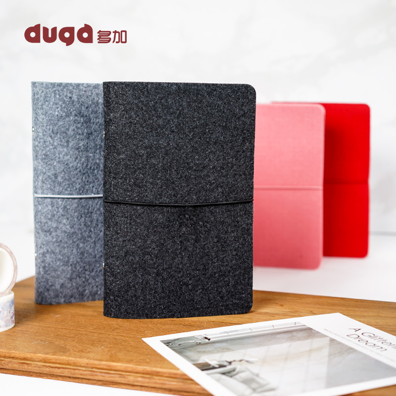Hot Sale A5 Business Handmade Felt Planner Loose-Leaf Travelers Notebook Cover Diary Journals Snap Button Bandage