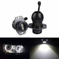 ANGRONG 2x 10W LED Angel Eyes DRL Halo Ring LED Headlight Lamp For BMW 3 Series E90 E91 2006 2008