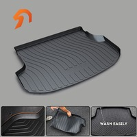 FOR KIA SORANTO 2011 2015 BOOT LINER REAR TRUNK CARPET MUD COVER PROTECTOR MATS 3D car styling CARGO MAT FLOOR TRAY