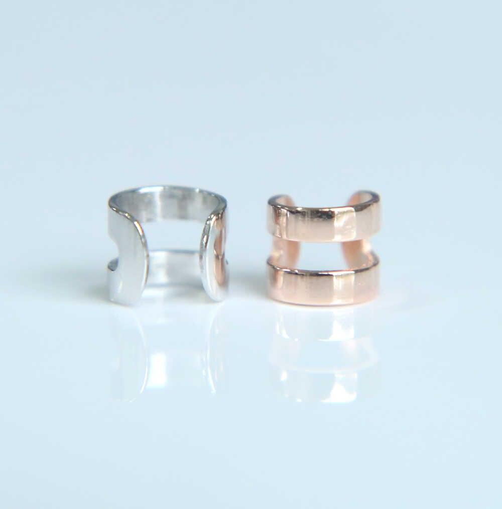 2017 chất lượng cao 100% 925 sterling silver bạc shinny đánh bóng cô gái phụ nữ đồ trang sức bán buôn bạc tai cuff cuff bông tai