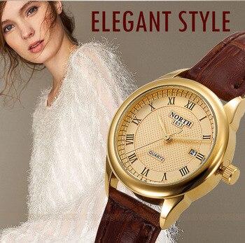 Watches North Brand Genuine Leather Roman Numeral Women 1