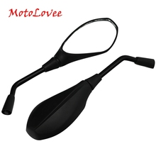 Motorcycle Mirror Motorbike Scooter Rear View Mirrors 10mm 8mm For Honda Suzuki Refit Back Side