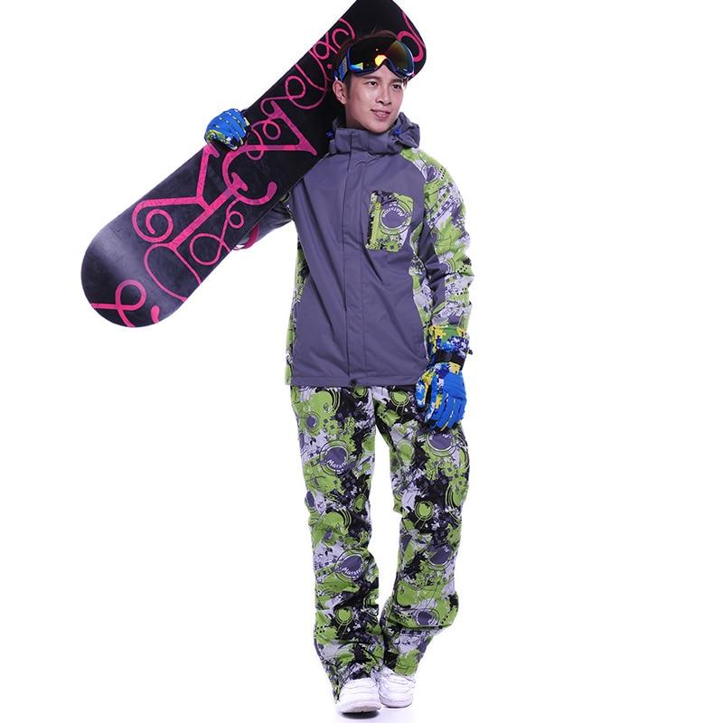 Сноуборд куртка и штаны утепленные костюмы Толстовки Комплекты одежды со штанами Спортивный Теплый Спортивный зимний костюм для мужчин ...