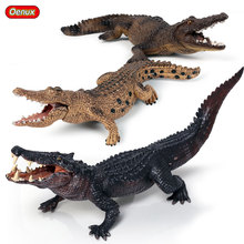 Oenux Lifelike Wild Animals Boar Croc Action Figures Crocodile Simulation Savage