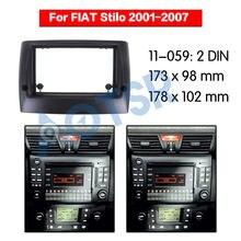 Radio samochodowe rama konsola dla FIAT Stilo 2001-2007 instalacji SAMOCHODOWY ODTWARZACZ DVD Audio górna rama konsola samochodowa Adapter ramki
