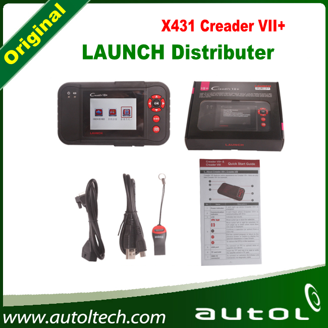 Original Launch X431 Creader VII+ 7plus 7+ Code Reader Scanner Update Online