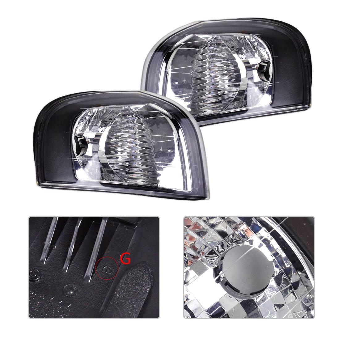 Автомобиль DWCX 2шт пластиковый угол сигнала поворота света Лампа 30655422 30655423 подходит для Volvo S81999-2001 2002 2003 2004 2005 2006