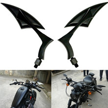 Retrovisor universal para motocicletas, espelhos retrovisores para honda suzuki kawasaki for harley yamaha v-star xvs 650 950 1100