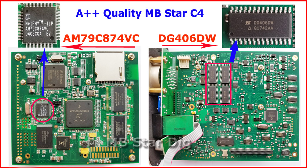 Best A++ Quality mb star c4 SD CONNECT PCB BOARD