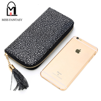Cheapest New Women S Vintage Wallet With Tassel Small Flower Printed PU Leather Women Purse Lady