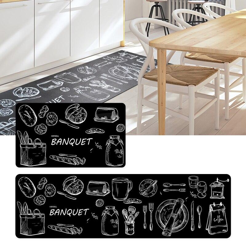 45X75/45X150 CM/Set qualité PVC tapis de cuisine accueil entrée/couloir paillasson anti-dérapant salle de bain tapis armoire/canapé tapis
