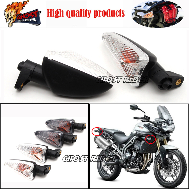 Para Triumph Tiger 800 2011-2013, Tiger 1050 2007-2013 Motocicleta Turn Signal Indicator Light Blinker Longo