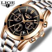 LIGE New Mens Watches Top Brand Luxury Mens Military Waterproof Sports Watch Men