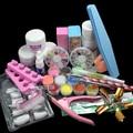 Nuevo 23 unids/set Set acrílico Nail Art Acrylic Powder Liquid Nail Set herramientas de maquillaje excelente manicura kit de herramienta del maquillaje