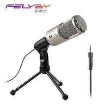 Новый SF-960 конденсаторный микрофон для компьютера и телефон ноутбук Студийный микрофон с подставкой караоке звук Запись сети Podcast