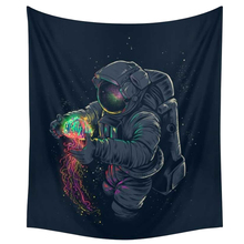 Astronauts Tapestries Colorful Psychedelic Bohemian Mandala Tapestry Camping Tent Travel Sandy Beach Picnic Throw Rug Blanket bohemian mandala coral fleece skidproof rug