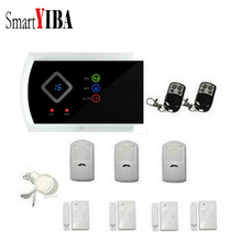 SmartYIBA GSM Intruder Alarm System 99 Wireless Guard Zones Hom Security Smoke Fire Sensors Spanish Russian French Cezch Voice