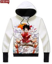 New Arrive Cartoon Characters 3D Sweatshirt Long Sleeve Outerwear One Piece Monkey D Luffy Crewneck Pullovers Hoodies 62102