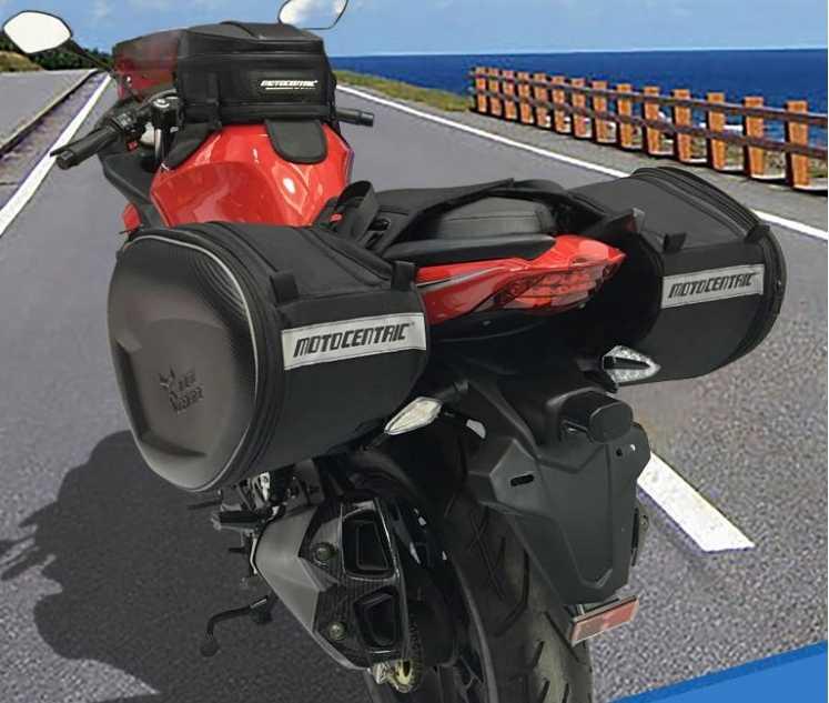 49d656b58cf7 Motocentric мотоцикл багажник мотоцикла сумки для шлемов гоночные сумки  уличная Водонепроницаемая многофункциональные сумки сторона сумка
