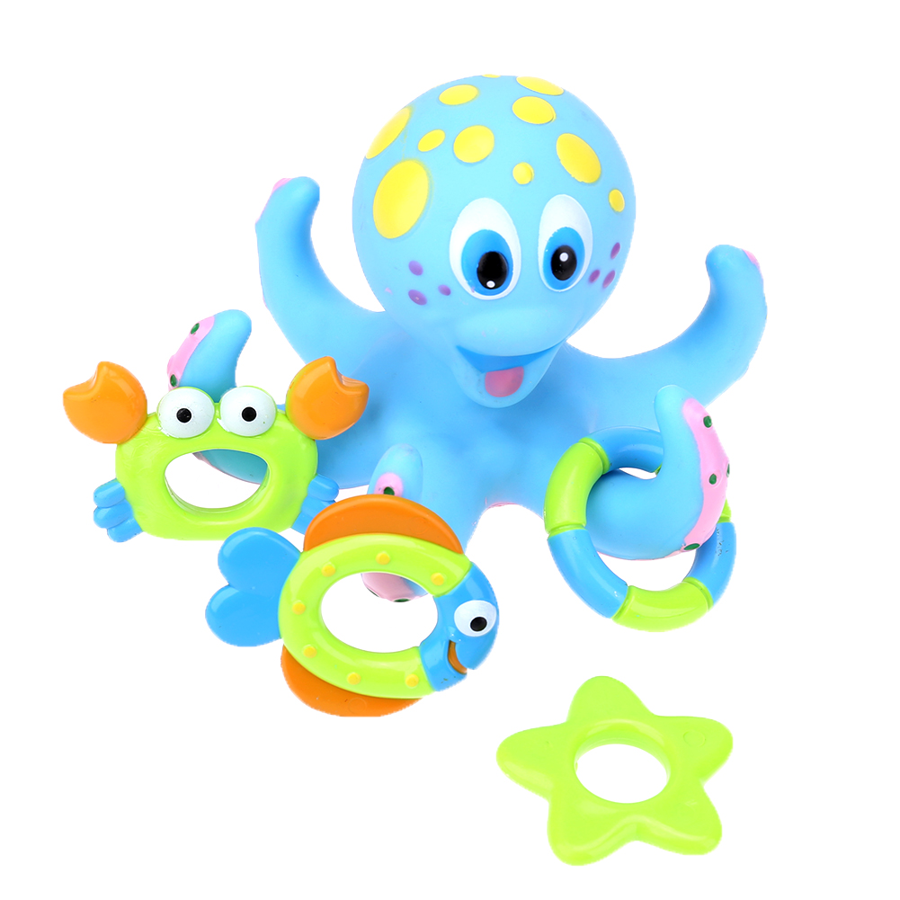 online shop 2017 octopus kids baby water bath toys lovely mixed