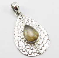 India Unique Designed Natural Golden Rutile Pendant for Necklace 1.8 Silver New Art