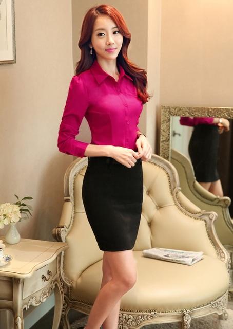 Nueva Novedad Trajes Blusa Y Falda Femenina 2015 Del Otoño Del Resorte Diseño Uniforme Trajes Falda de Las Mujeres Señoras de la Oficina Ropa de Trabajo Conjuntos
