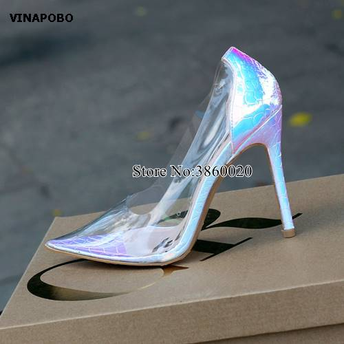 Trasparente Spillo As Scarpe Sposa The Cm Pvc 10 2019 Sexy Pompe r1wOrq