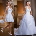 Fashion Halter Country Western Style Vintage China Plus Size Detachable Skirt Ball Gown Wedding Dresses Bridal Gowns 2015