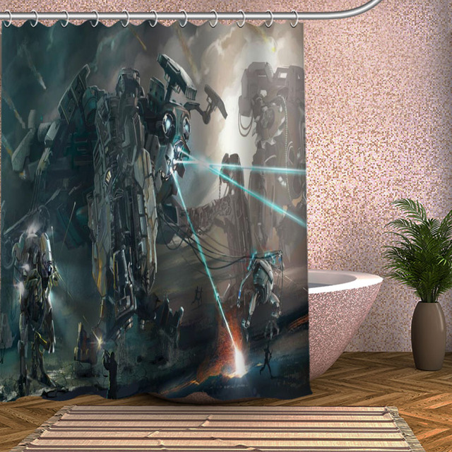 The Matrix Revolutions Shower Curtain Eco Friendly Modern Fabric Polyester  Custom Bath Curtains Home Decor