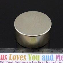 2 шт. N52 магнит 40 мм X 20 мм неодимовый сильный магнит, магнитный супер мощный круглый счетчик воды магнит на счетчик