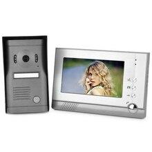7 «ЖК-Видео Проводной Телефон Двери Дверной Звонок Домофон Kit 1-камера 1-монитор Ночного Видения