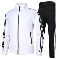 Men High Quality Cotton Running Suits Plus Size Mens Sports Suits Quick Dry Men Tracksuit Sport Suits Men Running Jogging Sets