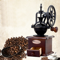 DUOLVQI Manual Coffee Grinder Ferris Wheel Design Coffee Maker Retro Wooden Coffee Mill For Home Decoration Grinder