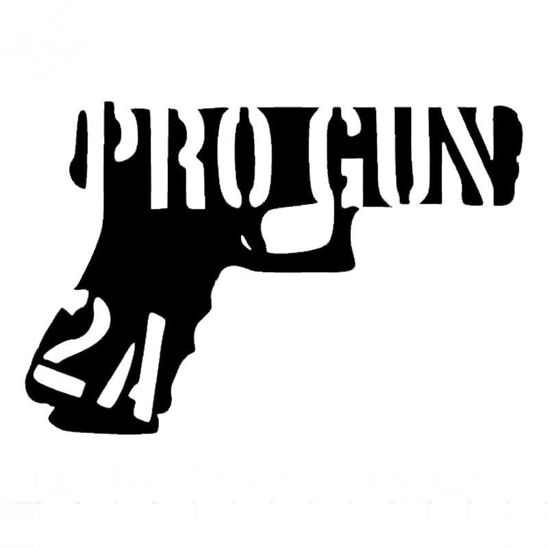 11.4CM*7.8CM Pro Gun 2A Vinyl Decals Bumper Window Flag Texas Guns Car Styling Funny Car Stickers On Black Sliver C8-1005