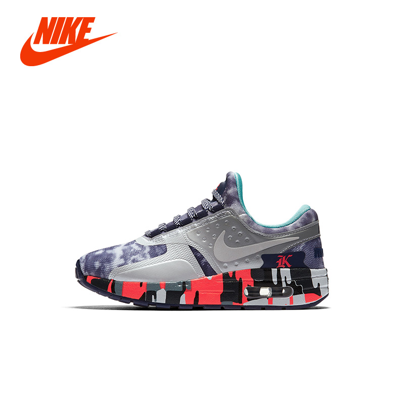 Original NIKE AIR. MAX ZERO IMG (PS) Boy Kids Running Sneakers WJK Designer Girl Children Breathable Casual Shoes dinoskulls new kids sport shoes children sneakers breathable leather boy running shoes 2018 girls leisure casual shoes