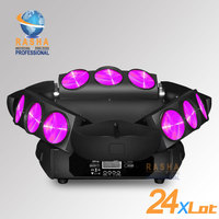 24X LOT Rasha New 9pcs*12W 4in1 RGBW LED Spider Light,Triangle DMX Pixel LED Spider Beam For Stage Event Party,12/43CH