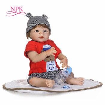 Muñecas NPK para bebés Reborn de 22 pulgadas, cuerpo completo de silicona, bebés reborn, bebés recién nacidos reales, juguetes para niños, muñecas de regalo
