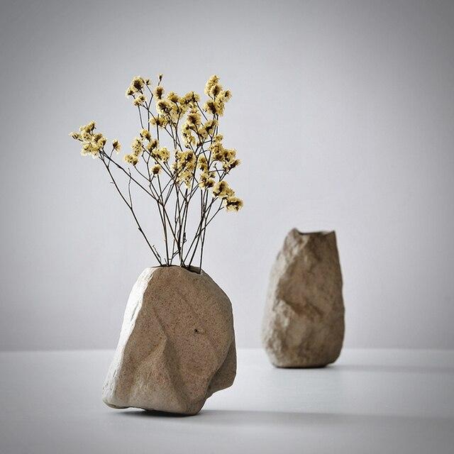 New ceramic modern Vase home decor fashion floral organ master bedroom creative ceramic  stone vase ornaments wedding gift 1