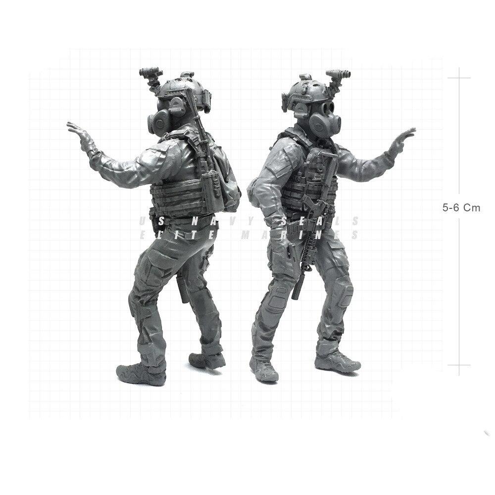 1/35 современный ВМС США уплотнения Elite десантники противогазы военнослужащего Смола Модель Рисунок NAI-16