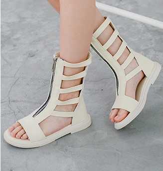 2019 ฤดูร้อนเปิดใหม่หญิง cool รองเท้าเด็กแฟชั่น Roman wind รองเท้าแตะหญิงแสดงรองเท้า siz26 - 36